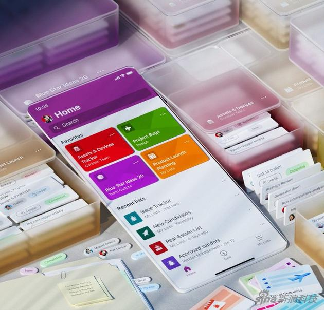 Microsoft Lists 上线 iOS 应用商店:为团队工作服务