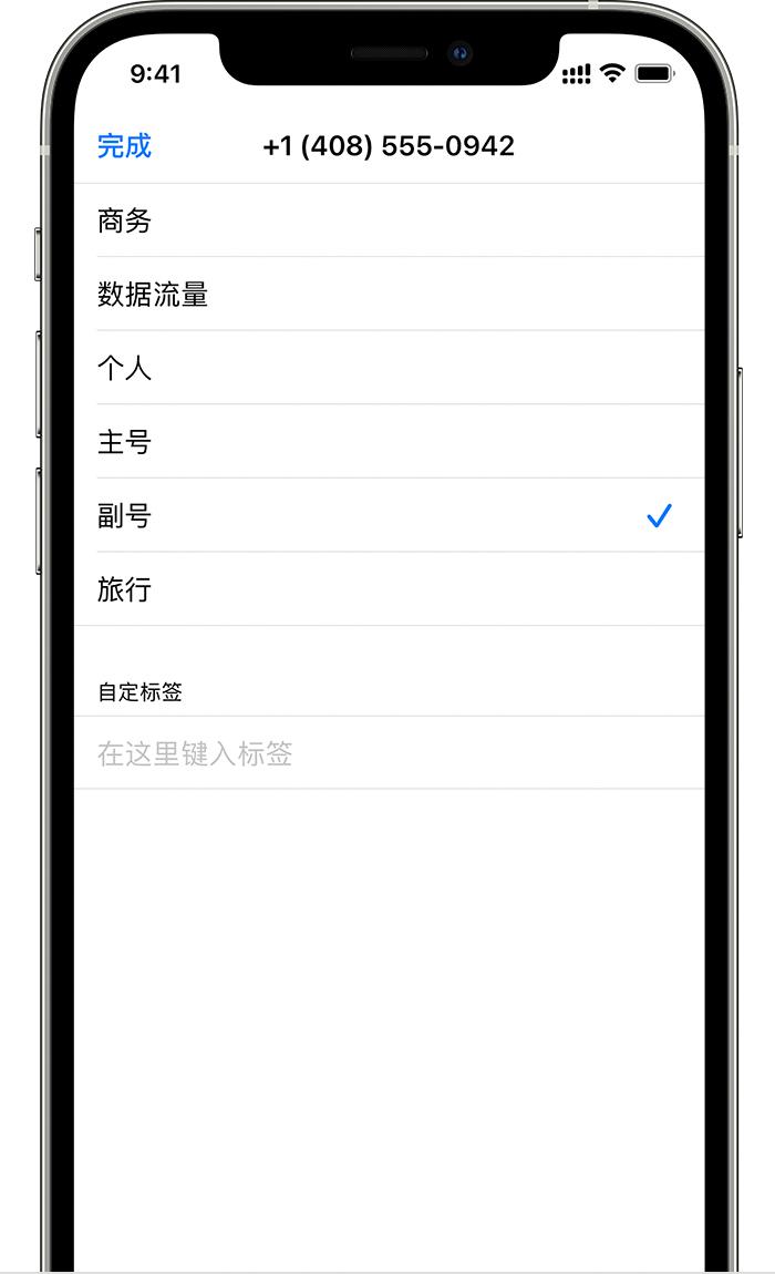 为 iPhone 12 双卡设置标签:支持自定义标签和 emoji 表情