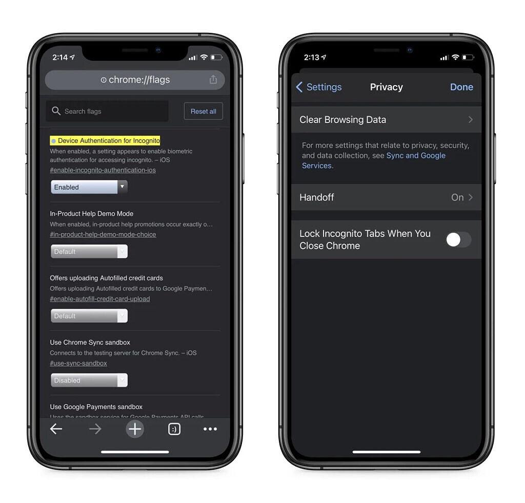 谷歌 Chrome 浏览器 iOS 测试版增添无痕模式锁定功能