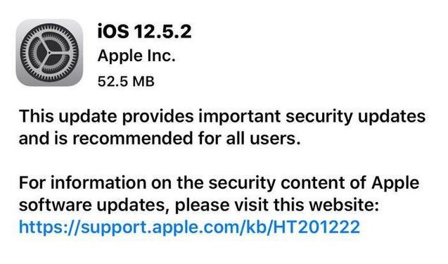 iOS12.5.2发布,建议所有老苹果用户安装