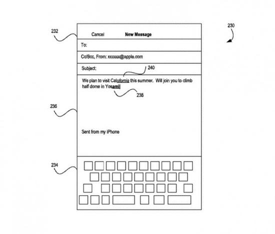 新专利显示苹果在研究通过更快的方法来纠正打字错误