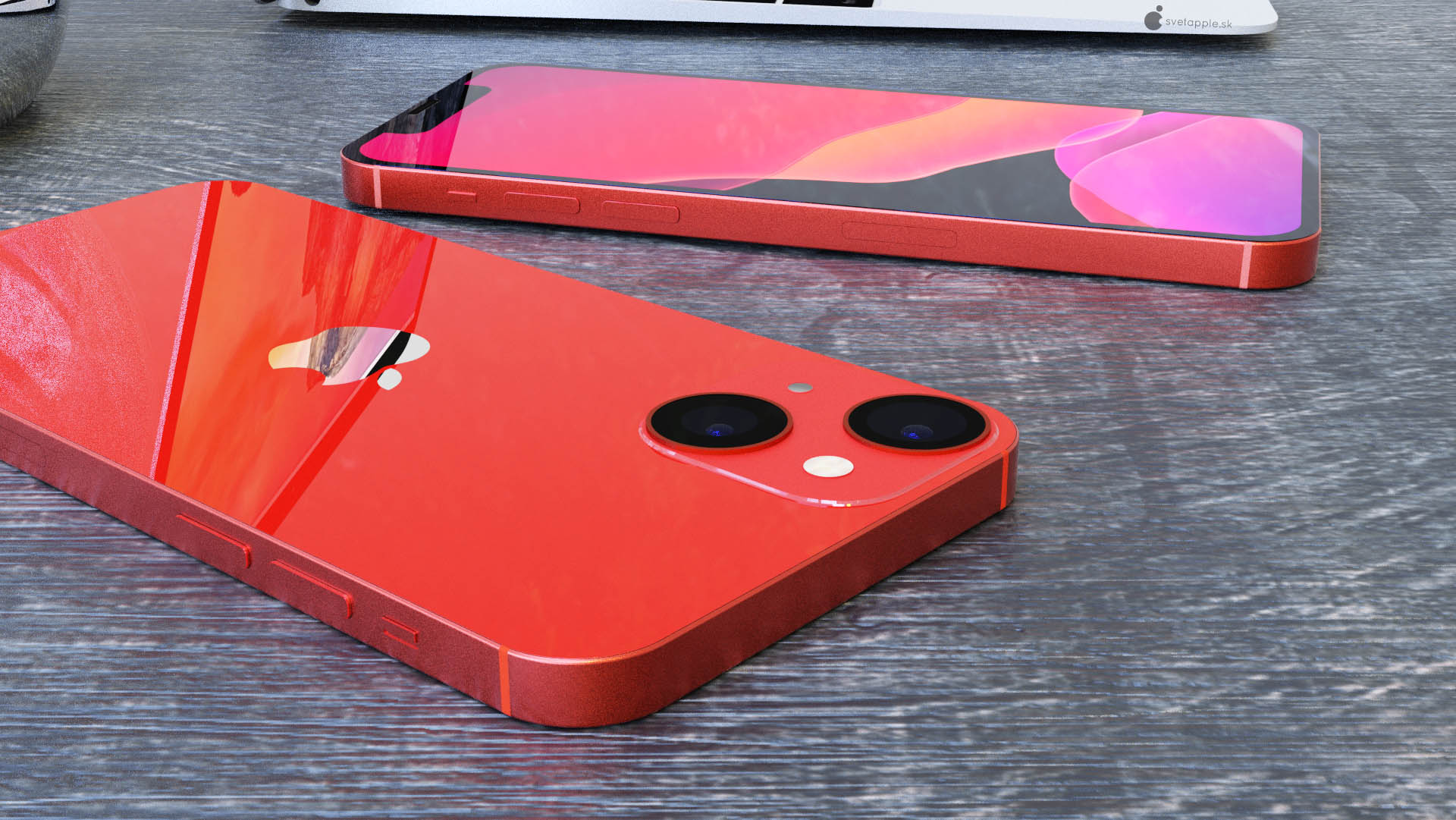苹果 iPhone 13 mini 高清渲染图:摄像头对角线布局