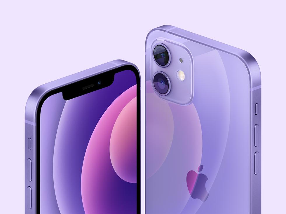 紫色 iPhone 12 搭载 iOS 14.5,支持佩戴口罩时用 Apple Watch 解锁