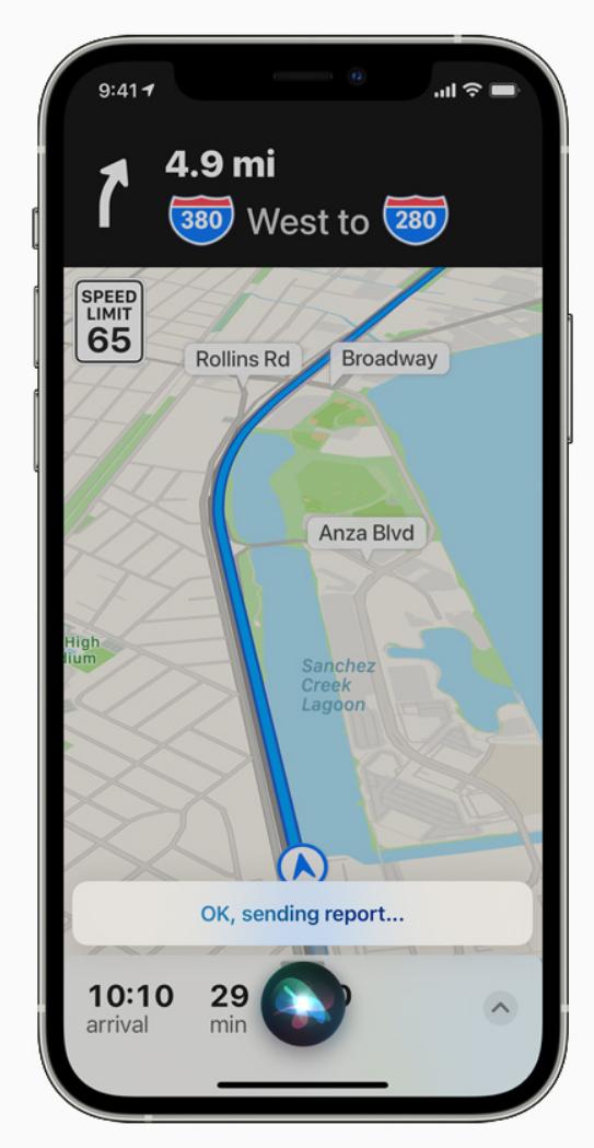 iOS 14.5 改进地图应用:支持通过 Siri 提交事故报告