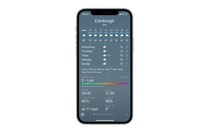 "iOS 14.7 Beta 将天气 App ""空气质量指数"" 扩展到更多国家地区"