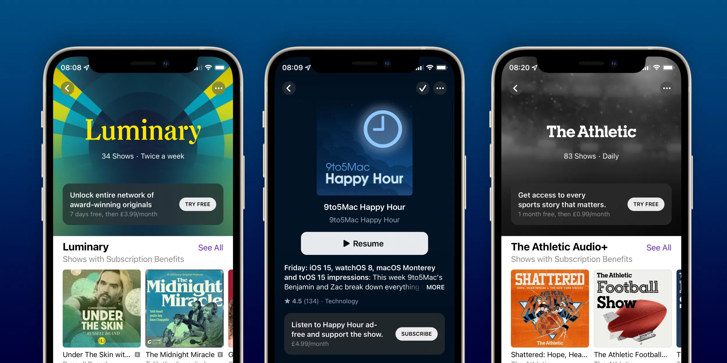 苹果播客订阅和频道现已推出