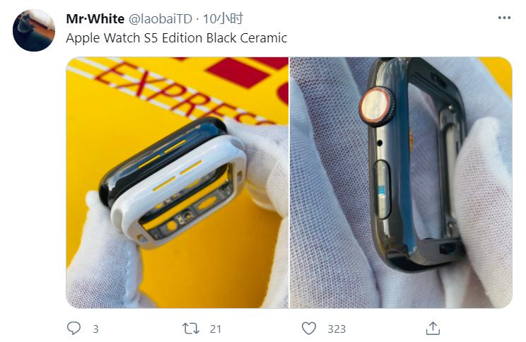 苹果 Apple Watch 黑色陶瓷外壳曝光