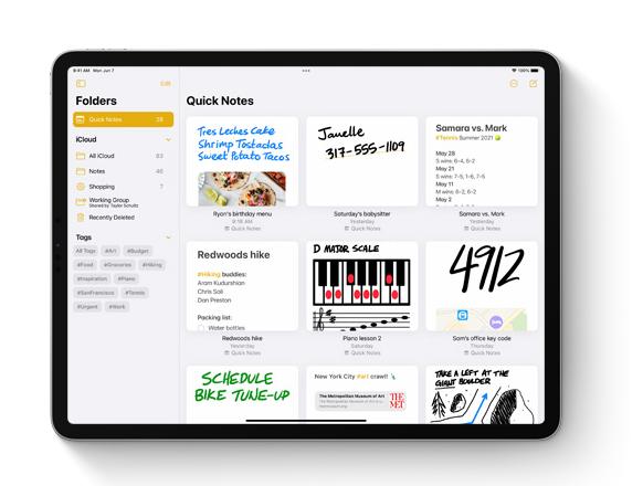 "iPadOS 15 实用功能:在任意界面中调用""快速备忘录"""