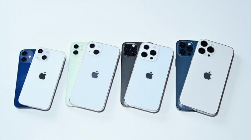 对比 iPhone 12 系列,苹果 iPhone 13 全系机模抢先看