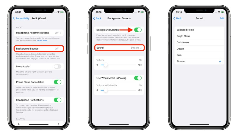 iOS 15 小技巧:如何开启背景音功能以减少干扰?