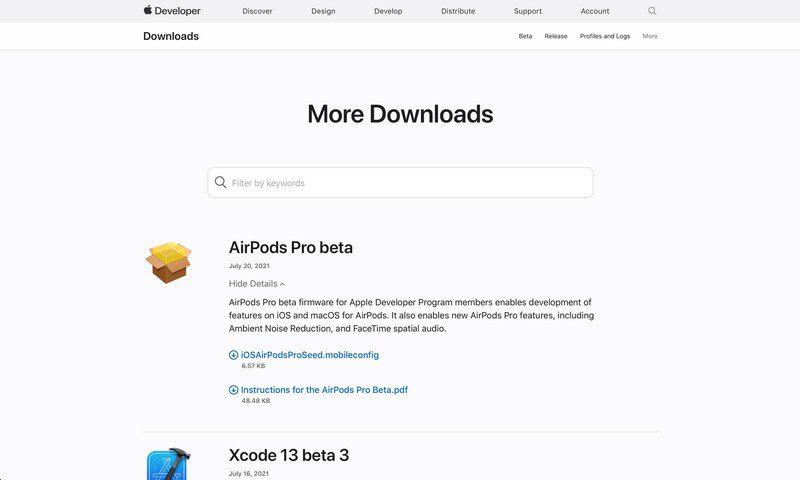 苹果 AirPods Pro Beta 更新发布:安装需运行 iOS 15 Beta 的 iPhone