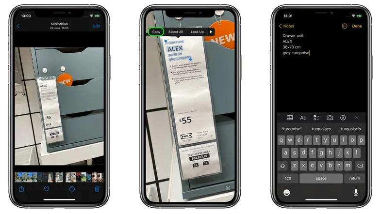 iOS 15 小技巧:从照片中复制和粘贴文本