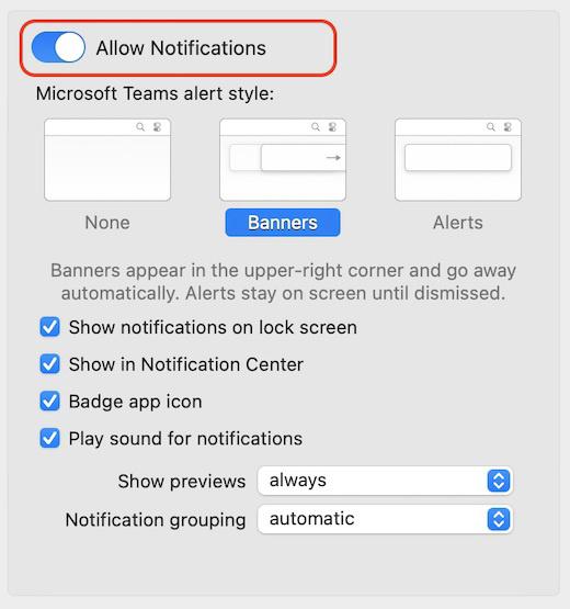 微软 Teams 已支持苹果 macOS 原生通知