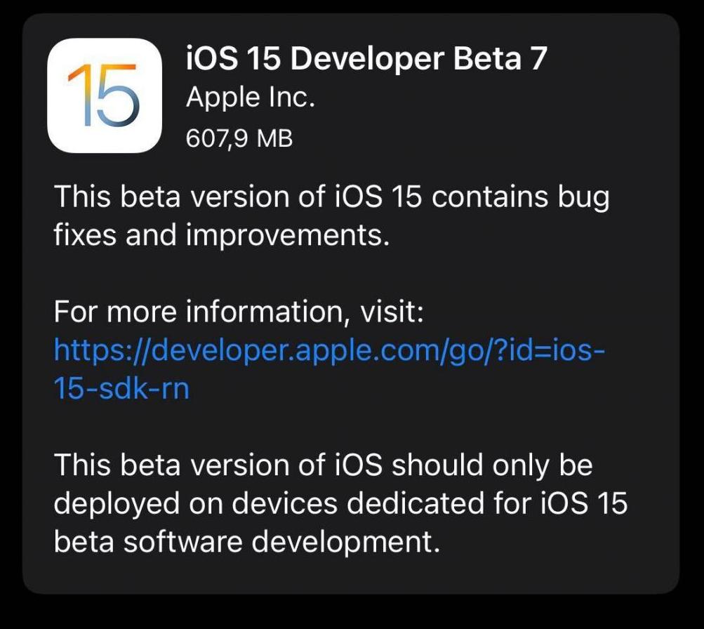 iOS15 beta 7更新建议及升级方法