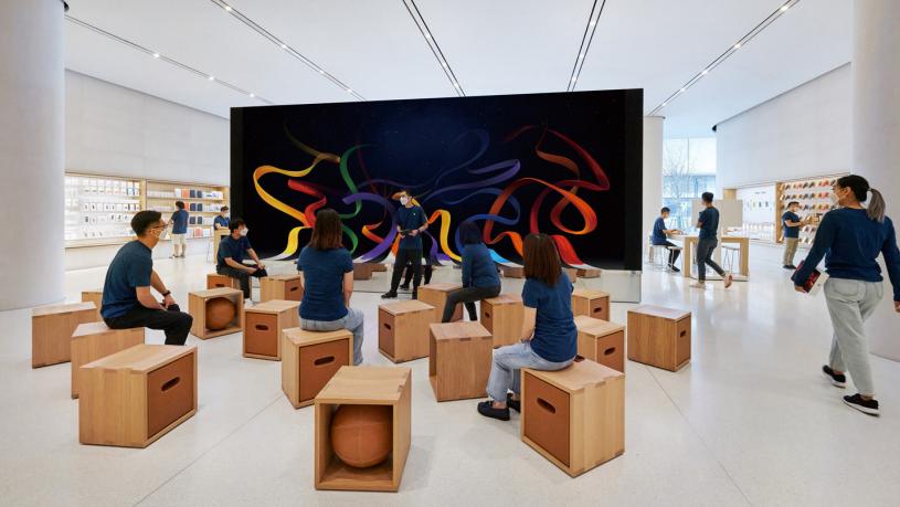 苹果官方展示预览长沙首家 Apple Store 零售店