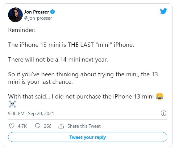 爆料:明年沒有 iPhone 14 mini,iPhone 13 mini 將是蘋果最后一款 mini 機型