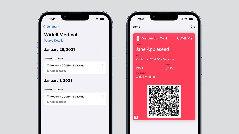 苹果 iOS 15 将更新可验证健康记录