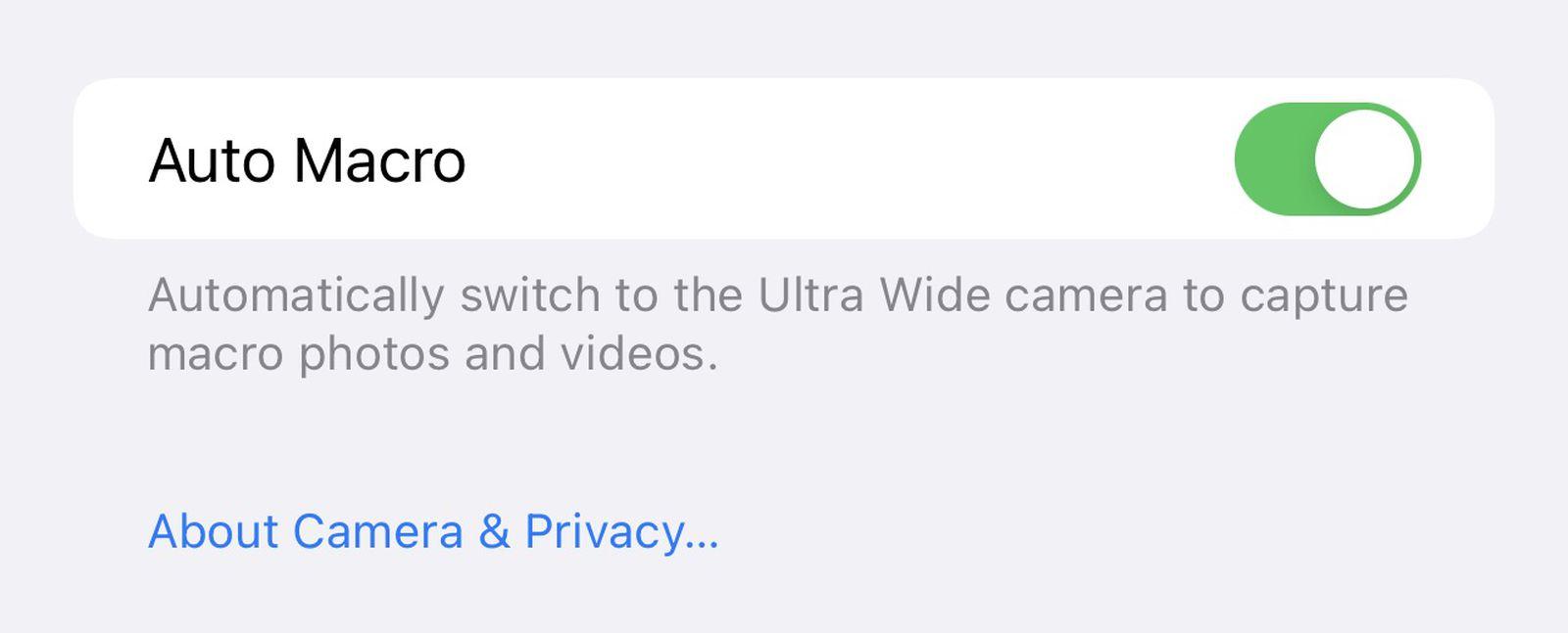 iOS 15.1 新功能汇总:支持 ProRes 格式、新增微距模式开关