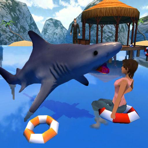 一个 愤怒 鲨鱼 生活