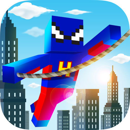 超級英雄搖擺冠軍-我的世界版飛行繩游戲 - Superhero Swing Champion ; The Minecraft Edition Rope n Fly Game