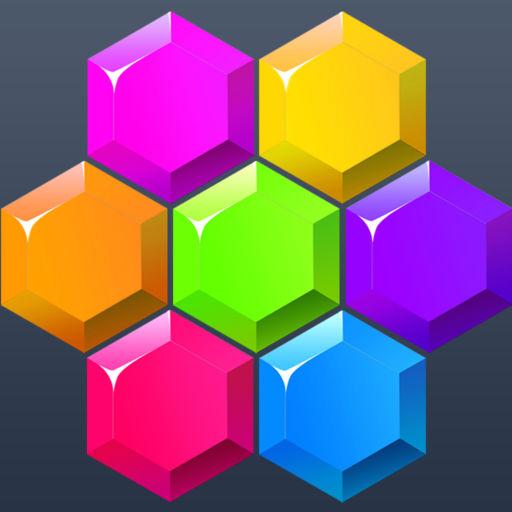 六边形消除—虐心抓狂的方块免费少儿童智能手机小游戏
