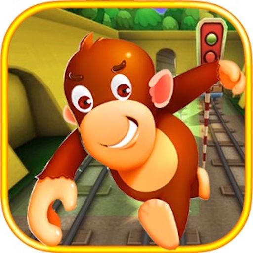 猴子跑酷之地铁雪地道路酷跑