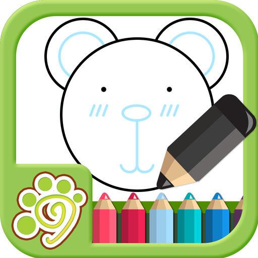 益智涂鴉涂色畫畫板兒app