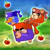 Ninja Grabs Apple