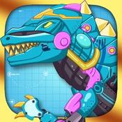 拼装机械霸王龙:机器恐龙拼图双人游戏