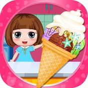 冰雪公主萌萌做冰淇淋和雪糕